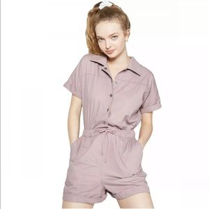 Wild Fable Short Sleeve Button Front  Romper